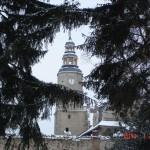 Wieża zegarowa po remoncie i renowacji zegara.