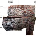Dokumentacja fotogrametryczna lica fundamentu kościoła św. Jacka, Dominikanie Warszawa